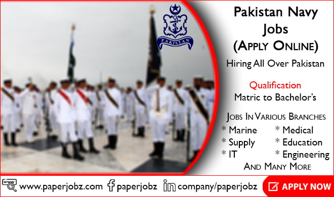 Join PAK Navy Jobs 2019 by Pakistan Navy (Apply Online)