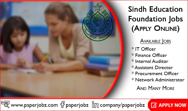 Sindh Education Foundation Jobs